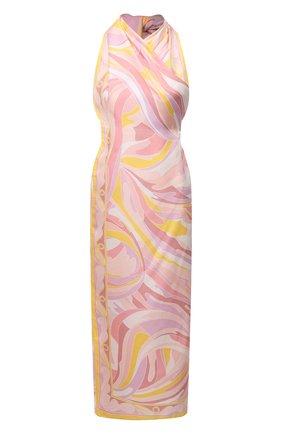 Женское шелковое платье EMILIO PUCCI розового цвета, арт. 1EWG45/1E791 | Фото 1