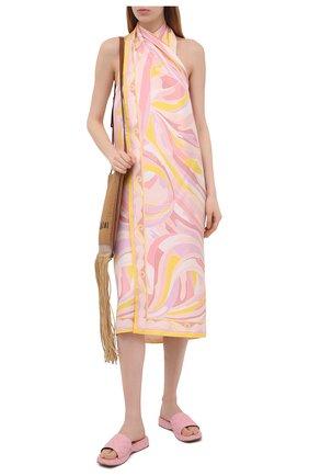 Женское шелковое платье EMILIO PUCCI розового цвета, арт. 1EWG45/1E791 | Фото 2