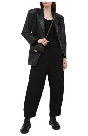 Женский пуловер BALENCIAGA черного цвета, арт. 657548/T5159 | Фото 2