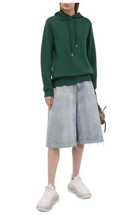 Женские текстильные кроссовки triple s BALENCIAGA белого цвета, арт. 544351/W2FB2 | Фото 2