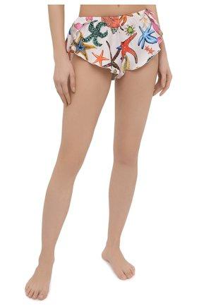 Женские шелковые шорты VERSACE разноцветного цвета, арт. AUD05061/1F01193 | Фото 2