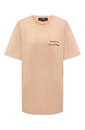 Женская хлопковая футболка STELLA MCCARTNEY бежевого цвета, арт. 601849/SMP91 | Фото 1