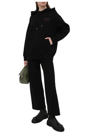 Женский хлопковое худи STELLA MCCARTNEY черного цвета, арт. 601846/SMP96 | Фото 2