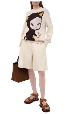 Женский хлопковый свитер STELLA MCCARTNEY разноцветного цвета, арт. 583371/S7228 | Фото 2