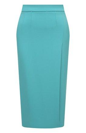 Женская юбка DOLCE & GABBANA голубого цвета, арт. F4B3UT/FURDV   Фото 1