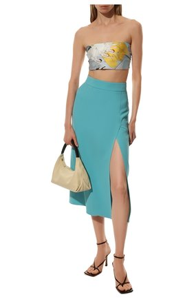 Женская юбка DOLCE & GABBANA голубого цвета, арт. F4B3UT/FURDV   Фото 2