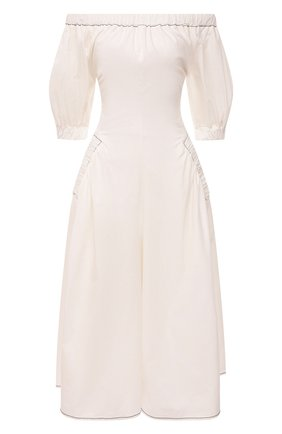 Женское хлопковое платье REJINA PYO белого цвета, арт. F309/0RGANIC C0TT0N | Фото 1