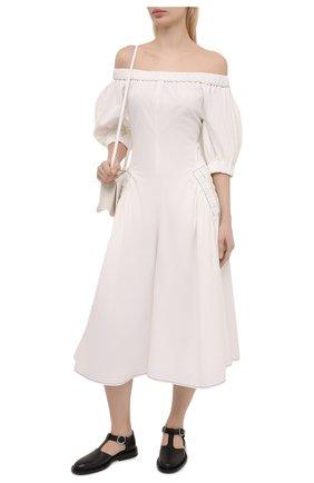 Женское хлопковое платье REJINA PYO белого цвета, арт. F309/0RGANIC C0TT0N | Фото 2