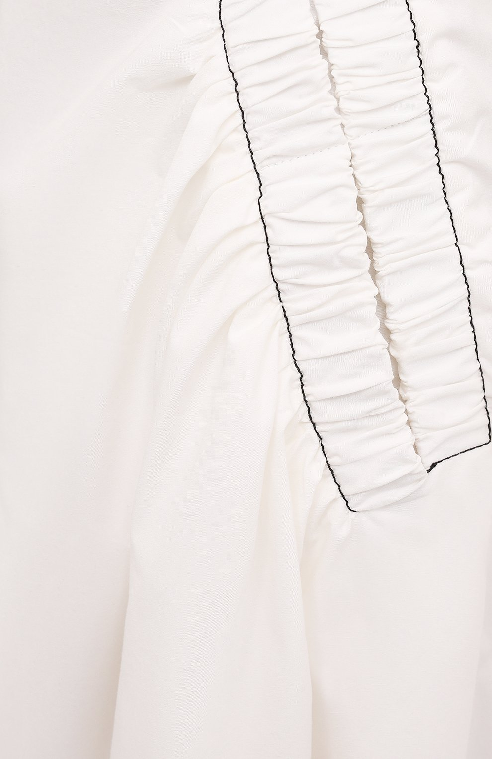 Женское хлопковое платье REJINA PYO белого цвета, арт. F309/0RGANIC C0TT0N   Фото 5 (Случай: Повседневный; Материал внешний: Хлопок; Длина Ж (юбки, платья, шорты): Миди; Рукава: 3/4; Стили: Романтичный; Материал подклада: Хлопок; Женское Кросс-КТ: Платье-одежда)