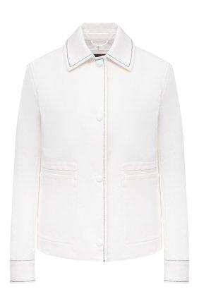 Женский джинсовый жакет LORO PIANA белого цвета, арт. FAL6353 | Фото 1