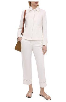 Женский джинсовый жакет LORO PIANA белого цвета, арт. FAL6353 | Фото 2