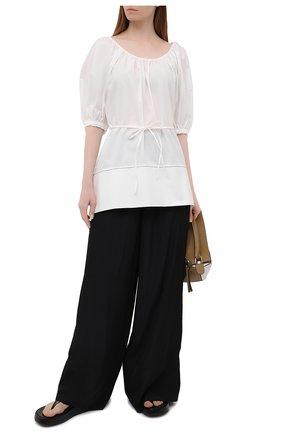 Женская хлопковая блузка PROENZA SCHOULER WHITE LABEL белого цвета, арт. WL2124233-SC054S | Фото 2