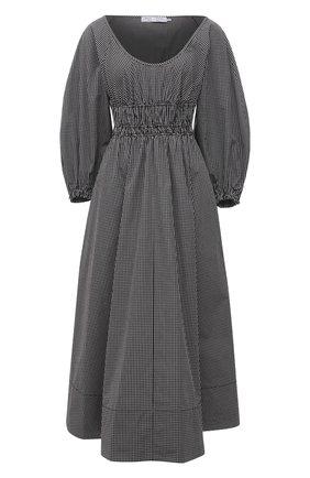 Женское хлопковое платье PROENZA SCHOULER WHITE LABEL черно-белого цвета, арт. WL2123164-AC117 | Фото 1