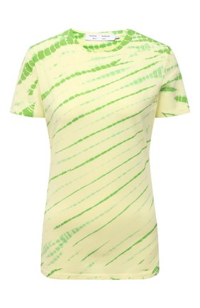 Женская хлопковая футболка PROENZA SCHOULER WHITE LABEL зеленого цвета, арт. WL2114228-JCT144 | Фото 1