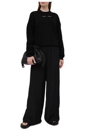 Женский хлопковый свитшот PROENZA SCHOULER WHITE LABEL черного цвета, арт. WL2114144-JC138   Фото 2