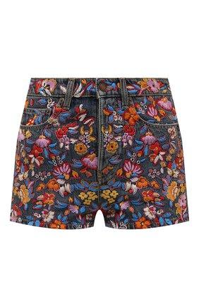 Женские джинсовые шорты SAINT LAURENT разноцветного цвета, арт. 649941/YC868 | Фото 1 (Длина Ж (юбки, платья, шорты): Мини; Материал внешний: Хлопок; Стили: Гламурный; Женское Кросс-КТ: Шорты-одежда; Кросс-КТ: Деним)