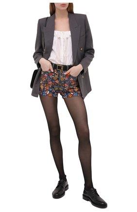 Женские джинсовые шорты SAINT LAURENT разноцветного цвета, арт. 649941/YC868 | Фото 2 (Длина Ж (юбки, платья, шорты): Мини; Материал внешний: Хлопок; Стили: Гламурный; Женское Кросс-КТ: Шорты-одежда; Кросс-КТ: Деним)