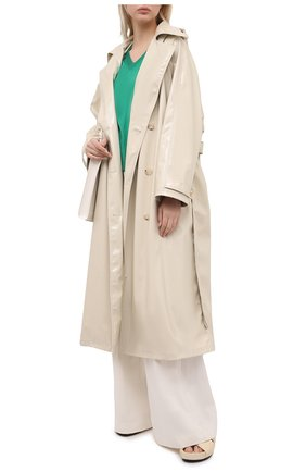Женский шелковый пуловер DOLCE & GABBANA зеленого цвета, арт. FXC75T/JAS0P | Фото 2