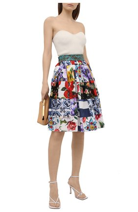 Женская хлопковая юбка DOLCE & GABBANA разноцветного цвета, арт. F4B3WT/GDY03 | Фото 2