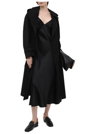 Женские кожаные лоферы nick BY FAR черного цвета, арт. 21SSNKLBLCRE | Фото 2