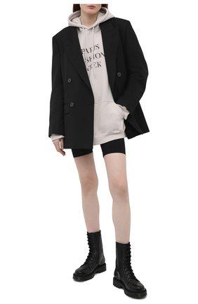 Женский хлопковое худи BALENCIAGA светло-серого цвета, арт. 651799/TKV85 | Фото 2
