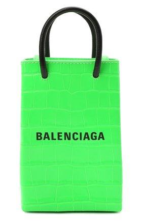 Чехол для iphone BALENCIAGA зеленого цвета, арт. 593826/1U61N | Фото 1