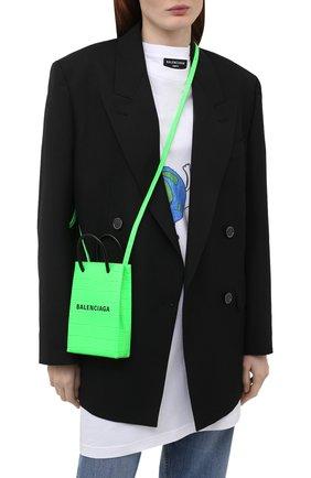 Чехол для iphone BALENCIAGA зеленого цвета, арт. 593826/1U61N | Фото 2
