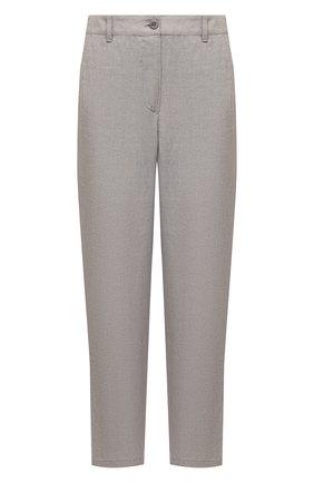 Женские льняные брюки EMPORIO ARMANI бежевого цвета, арт. 0NP4LT/02061   Фото 1