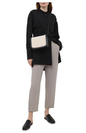 Женские льняные брюки EMPORIO ARMANI бежевого цвета, арт. 0NP4LT/02061   Фото 2