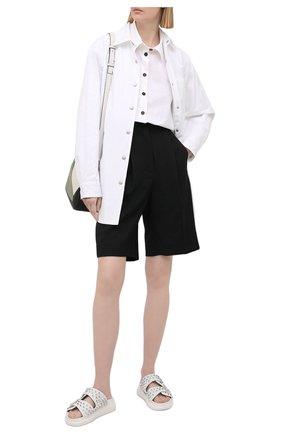 Женские кожаные шлепанцы ALEXANDER MCQUEEN белого цвета, арт. 650785/WHXZE | Фото 2 (Подошва: Платформа; Материал внутренний: Натуральная кожа)