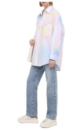 Женские кожаные кеды ALEXANDER MCQUEEN белого цвета, арт. 650792/WHZN1 | Фото 2