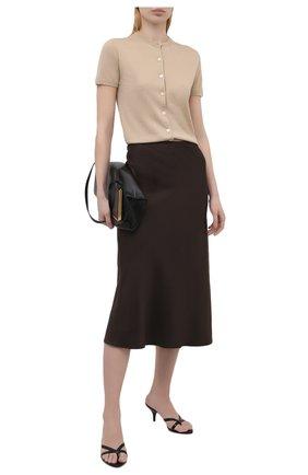 Женские кожаные мюли logo TOM FORD черного цвета, арт. W2883N-LCL107 | Фото 2