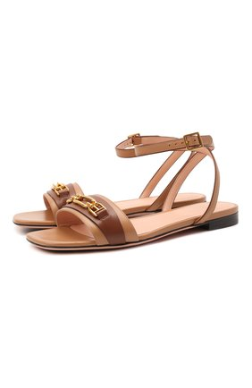Женские кожаные сандалии dossy BALLY коричневого цвета, арт. D0SSY FLAT/06 | Фото 1