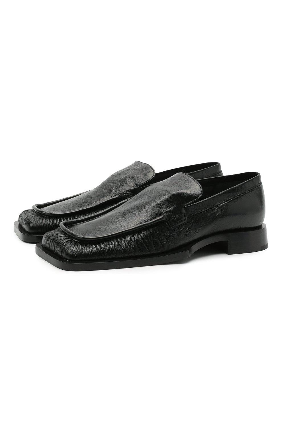 Женские кожаные лоферы nikky JIL SANDER черного цвета, арт. JS36103A-13200 | Фото 1