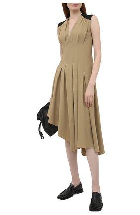 Женские кожаные лоферы nikky JIL SANDER черного цвета, арт. JS36103A-13200 | Фото 2