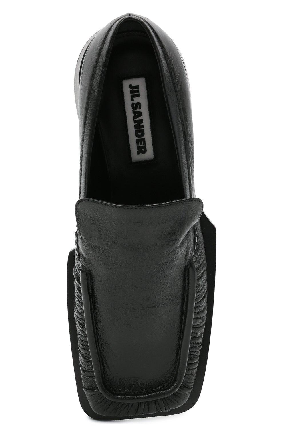 Женские кожаные лоферы nikky JIL SANDER черного цвета, арт. JS36103A-13200 | Фото 5