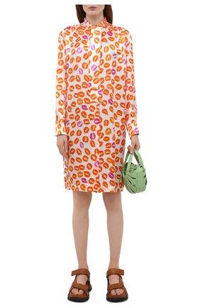 Женское платье из вискозы MARNI оранжевого цвета, арт. ABMA0662A0/UTV821 | Фото 2