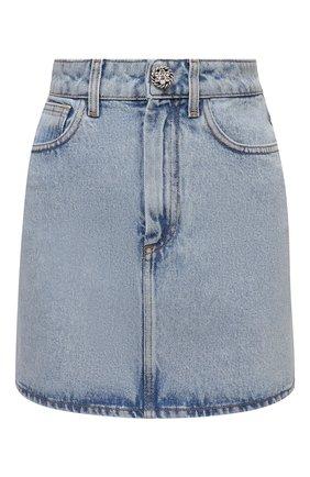 Женская джинсовая юбка ALESSANDRA RICH голубого цвета, арт. FAB2447-F3043 | Фото 1