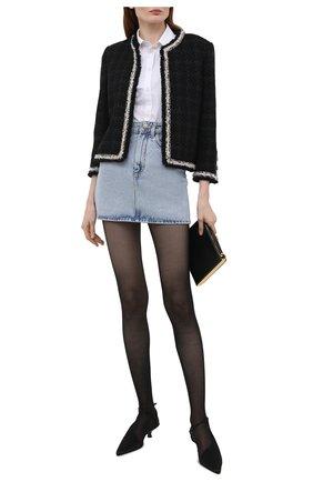 Женская джинсовая юбка ALESSANDRA RICH голубого цвета, арт. FAB2447-F3043   Фото 2