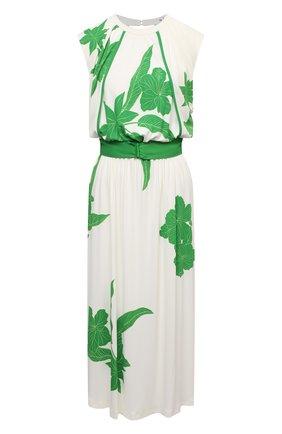 Женское платье из вискозы и шелка LORO PIANA зеленого цвета, арт. FAL5951 | Фото 1