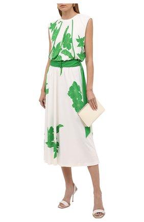Женское платье из вискозы и шелка LORO PIANA зеленого цвета, арт. FAL5951 | Фото 2