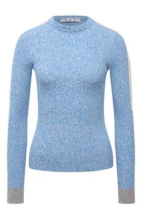Женский пуловер из вискозы OFF-WHITE голубого цвета, арт. 0WHE039S21KNI002 | Фото 1