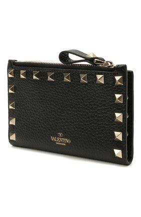 Женский кожаный футляр для кредитных карт rockstud VALENTINO черного цвета, арт. VW0P0605/VSH | Фото 2