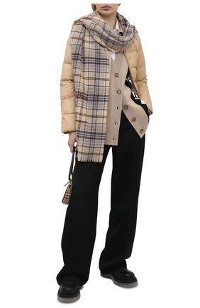 Женская пуховая куртка BURBERRY бежевого цвета, арт. 8039217 | Фото 2