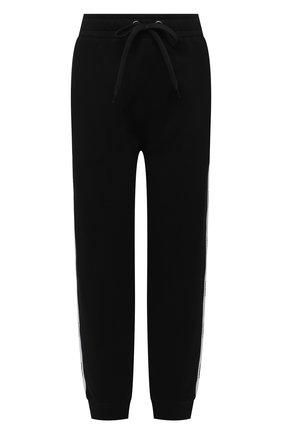 Женские хлопковые джоггеры BURBERRY черного цвета, арт. 8040244 | Фото 1