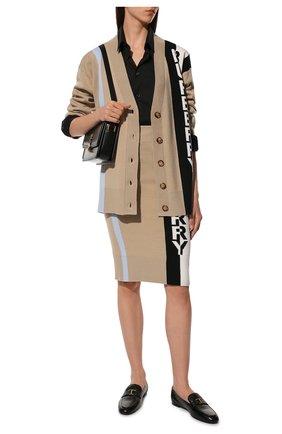 Женская шерстяная юбка BURBERRY бежевого цвета, арт. 8039183 | Фото 2