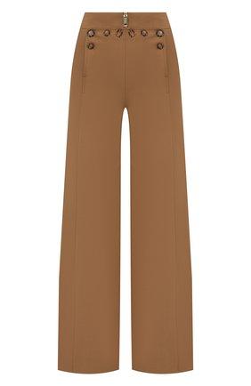 Женские хлопковые брюки BURBERRY бежевого цвета, арт. 8039054 | Фото 1