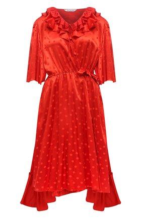 Женское платье из вискозы BALENCIAGA красного цвета, арт. 658873/TK041   Фото 1