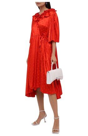 Женское платье из вискозы BALENCIAGA красного цвета, арт. 658873/TK041 | Фото 2