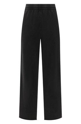 Женские хлопковые брюки BALENCIAGA черного цвета, арт. 657822/TJVN8 | Фото 1